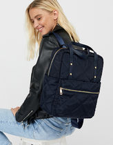 Accessorize Casual Style Nylon A4 Plain Backpacks