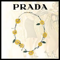 PRADA Casual Style Flower Necklaces & Pendants