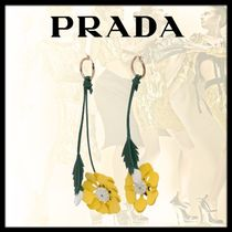 PRADA Casual Style Flower Earrings & Piercings