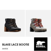 SOREL Lace-up Casual Style Blended Fabrics Block Heels