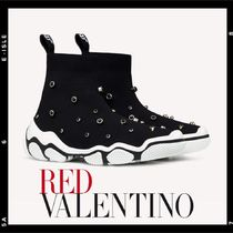 RED VALENTINO Rubber Sole Low-Top Sneakers