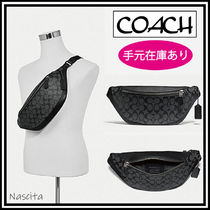 Coach Monogram Canvas Street Style 2WAY Leather Hip Packs