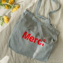 merci Casual Style Unisex Street Style Totes