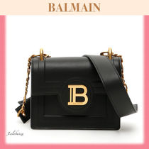 BALMAIN Monogram Chain Leather Shoulder Bags