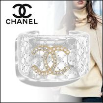 CHANEL Bangles Casual Style Party Style Elegant Style Bracelets