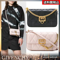 GIVENCHY Blended Fabrics 2WAY Chain Plain Leather Party Style