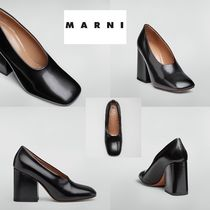 MARNI Plain Leather High Heel Pumps & Mules