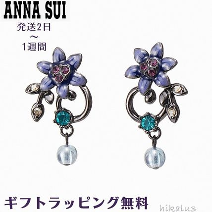 Casual Style Flower Party Style Earrings