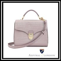 Aspinal of London 2WAY Leather Office Style Elegant Style Shoulder Bags