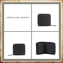 Dries Van Noten Lambskin Plain Folding Wallets