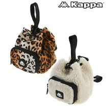 Kappa Leopard Patterns Casual Style Unisex Street Style Plain