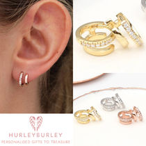 HURLEY BURLEY Costume Jewelry Casual Style Silver 18K Gold Earrings