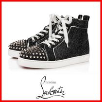 Christian Louboutin Studded Plain Leather Low-Top Sneakers