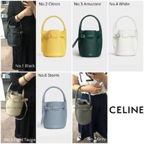 CELINE Big Bag Calfskin 2WAY Plain Crossbody Logo Handbags