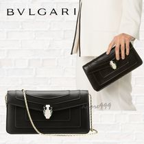 Bvlgari Chain Leather Shoulder Bags