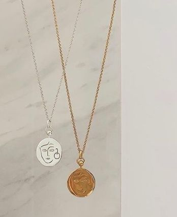 Casual Style Coin Silver 18K Gold Necklaces & Pendants