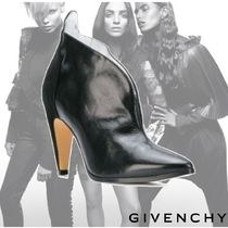 GIVENCHY Plain Leather Elegant Style Ankle & Booties Boots