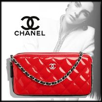 CHANEL Chain Party Style Elegant Style Clutches