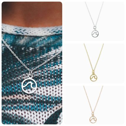 Unisex Street Style Handmade Silver Necklaces & Chokers