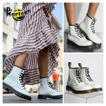 Dr Martens 1460 Platform Round Toe Casual Style Street Style Plain Leather