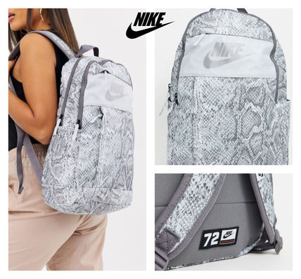 Casual Style Street Style Python Backpacks