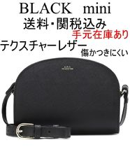 A.P.C. Plain Leather Elegant Style Shoulder Bags