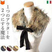 Calimar Casual Style Elegant Style Eco Fur Collars