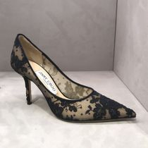 Jimmy Choo Flower Patterns Elegant Style Pointed Toe Pumps & Mules