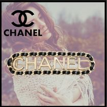 CHANEL Barettes Casual Style Party Style Office Style Elegant Style