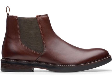 Clarks Plain Toe Mountain Boots Leather Chelsea Boots Outdoor Boots