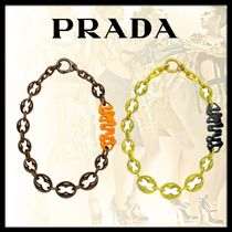 PRADA Chain Elegant Style Necklaces & Pendants