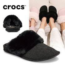 CROCS Casual Style Street Style Plain Slippers Slip-On Shoes
