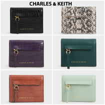Charles&Keith Faux Fur Plain Other Animal Patterns Python Card Holders