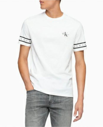 Calvin Klein More T-Shirts U-Neck Cotton Short Sleeves Logo T-Shirt Logo T-Shirts 3