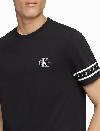 Calvin Klein More T-Shirts U-Neck Cotton Short Sleeves Logo T-Shirt Logo T-Shirts 4