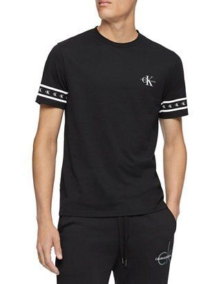 Calvin Klein More T-Shirts U-Neck Cotton Short Sleeves Logo T-Shirt Logo T-Shirts 6