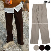 ASCLO Slax Pants Street Style Collaboration Plain Slacks Pants