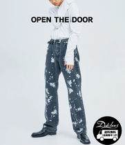 OPEN THE DOOR Street Style Cotton Jeans & Denim