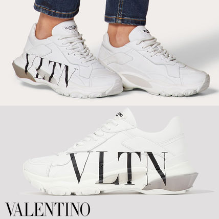 Unisex Street Style Leather Logo Low-Top Sneakers