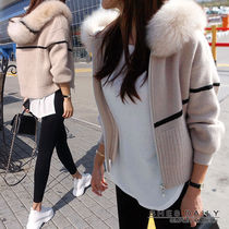 Short Casual Style Wool Cashmere Medium Jackets