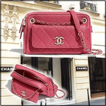 CHANEL 2020 CRUISE SMALL CAMERA CASE pink shoulder bags