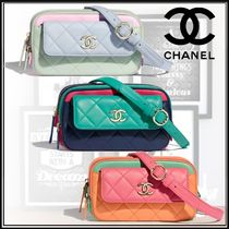 CHANEL Casual Style Unisex 2WAY Leather Hip Packs