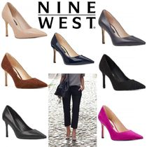 Nine West Enamel Suede Plain Leather Pin Heels Party Style