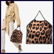 Stella McCartney FALABELLA Leopard Patterns Faux Fur 2WAY Handbags
