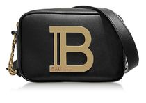 BALMAIN Calfskin Leather Logo Camera Bag Shoulder Bags