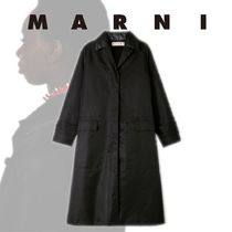 MARNI Casual Style Wool Plain Long Party Style Elegant Style