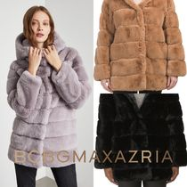 BCBG MAXAZRIA Faux Fur Plain Medium Cashmere & Fur Coats