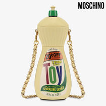 Moschino Casual Style Calfskin Chain Shoulder Bags
