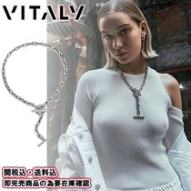 Vitaly Unisex Street Style Plain Silver Necklaces & Chokers