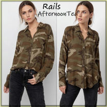 Rails Camouflage Long Sleeves Medium Handmade Shirts & Blouses